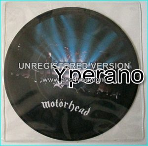"MOTORHEAD: Motorhead 7"" + Over the Top. PICTURE DISC. [recorded live in England '81] Check video."