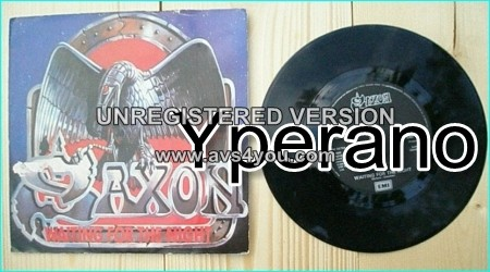 "SAXON: Waiting For the Night 7"" + Chase the Fade. Check video."