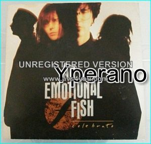 "AN EMOTIONAL FISH: Celebrate 7"" + Anyway (Very popular and nice song). Check video. HIGHLY RECOMMENDED"