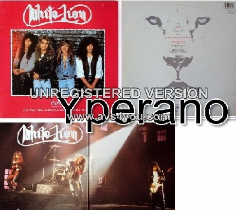 "WHITE LION: Wait 12"" Gatefold (Red colour) UK ONLY!! Wait (Extended Version) and 2 live versions. Super wow! Check videos!!"
