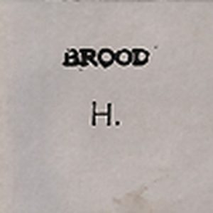 BROOD: H CD post punk in stylish DIY digipack packaging.