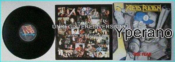 ACID REIGN: The Fear LP. 1988. Great UK Thrash Metal.