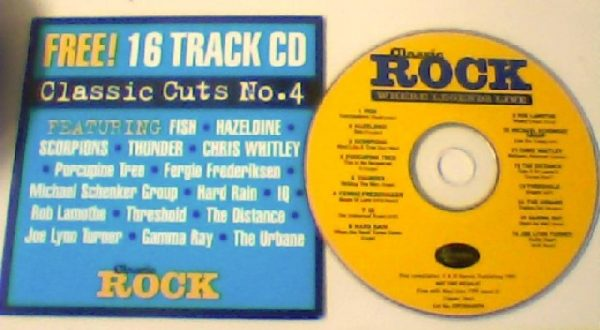 Classic Rock Classic Cuts No. 4. Fish, Scorpions, Thunder, IQ, Threshold, Gamma Ray, etc. s. Free for orders of £25+
