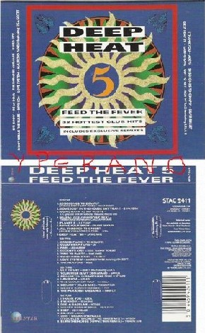 Deep Heat 5 - Feed The Fever. 2 (double) tape. 32 Hottest Club Hits 1990. s