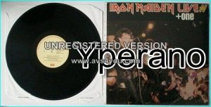 IRON MAIDEN: Live + One LP Greece / GREEK ORIGINAL Black vinyl LP 062-2600481 EMI