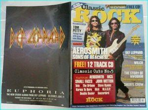 CLASSIC ROCK magazine 5 (July 1999) with CD. Aerosmith. N.W.O.B.H.M special, Def Leppard, MICHAEL SCHENKER, E.L.O-.