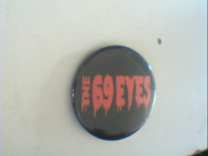 The 69 Eyes: Pin Button. Free for orders of £35+