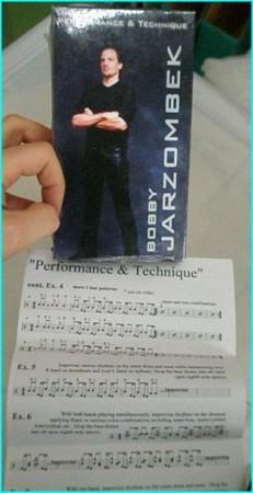Boby Jarzombek Performance & Technique VHS NTSC. VHS video tape (official)