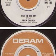 "AMEN CORNER: High in the Sky 7"" (song later covered by Shogun N.W.O.B.H.M.) + Run, run, run. No Cover Sleeve."