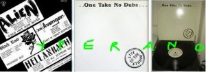"One Take No Dubs 12"", EP Neat Records 1982. Mint condition. Alien, Avenger, Black Rose, Hellanbach."