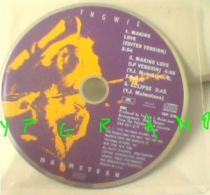 YNGWIE MALMSTEEN: Making Love CD U.S.A PROMO only. RARE. Check video
