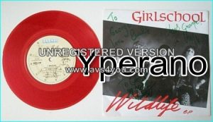 "GIRLSCHOOL: Wildlife 7"" EP. red vinyl. Check videos. SIGNED Autographed"