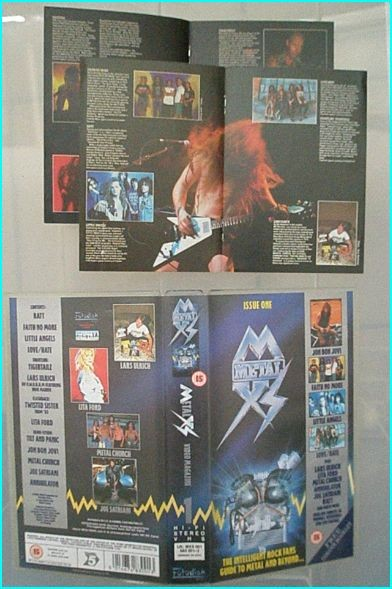Metal XS issue one VHS with booklets! Ratt, Bon Jovi, Tigertailz, Faith No More, Lars Ulrich of Metallica on M.W.O.B.H.M.