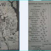 Intellektual Spew zine 5, Arch Enemy, Damaged, Mental Home, Pessimist, Scepter, Sculptured, The End Records