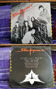 "STARFIGHTERS: Alley Cat Blues 12"" [Hard Rock AC/DC type w. members of the Young family] Check sample"