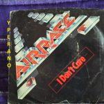 "AIRRACE: I don't care 7"" SIGNED, AUTOGRAPHED. Rare. Classic A.O.R. (US import). Jason Bonham on drums. [Check audio]"