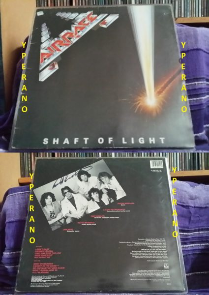 AIRRACE: Shaft of Light LP. SIGNED, AUTOGRAPHED. Rare. Classic A.O.R. Jason Bonham on drums. [Check audio]