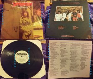 SARACEN: Change of Heart LP 1984 Neat Records with inner. Check videos