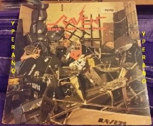 RAVEN: Rock Until You Drop LP. Neat. Includes insert. N.W.O.B.H.M. Check audio samples & video