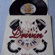 "DRIVIN N CRYING: Build a fire 10"" Ltd Original gatefold Fold-out PS. [novelty sleeve opens as book of matches] Check video"