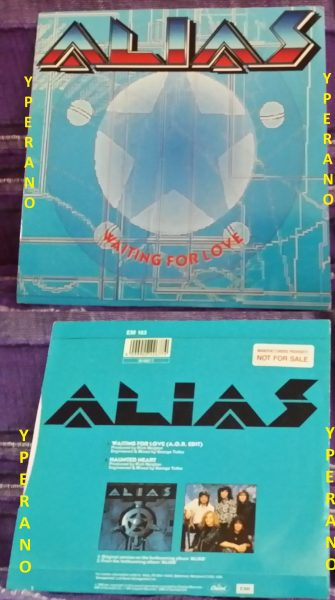 """ALIAS: Waiting for Love 7"""" Promo. Check videos! Totally killer A.O.R ballad that went in the No 1 in the US charts!"""