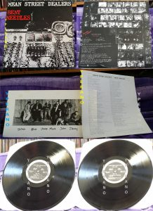MEAN STREET DEALERS: Bent Needles LP with lyric sheet and band photo. Check sample