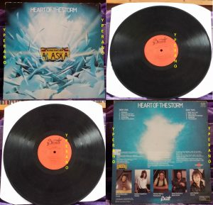 ALASKA: Heart Of The Storm LP. Rare Bernett Records version. Ex Whitesnake guitarist.