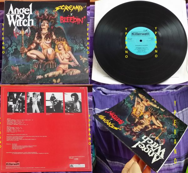 ANGEL WITCH: Screamin' 'n' Bleedin' LP 1985 original Killerwatt pressing. MINT CONDITION. Great cover artwork