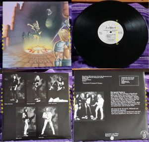 AXE WITCH: Visions Of The Past LP. Rare Neat Records Ž1985 w. inner. Mint condition. Top Swedish Heavy Metal.