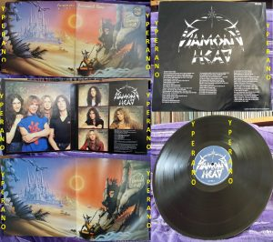 DIAMOND HEAD: Borrowed Time LP Gatefold UK + poster + inner + black circled hype sticker. Top NWOBHM. Check whole album (audio)