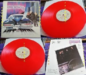 GIRLSCHOOL: Hit and run LP red vinyl. UK 1981. Check videos n full album