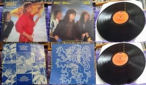 HEAVY PETTIN: Rock Ain't Dead LP + inner. 1985 NWOBHM masterpiece. Vinyl in VG+ condition, original UK.