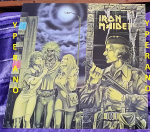 """IRON MAIDEN: Women in Uniform 12"""" UK. Mint condition. (Skyhook cover) + Invasion + Phantom of the Opera (live Marquee 4-7-1980)"""