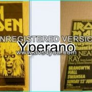 Iron Maiden poster 51X76cm (30X20inches) 1980, 1st tour!! ULTRA RARE ORIGINAL!!!!
