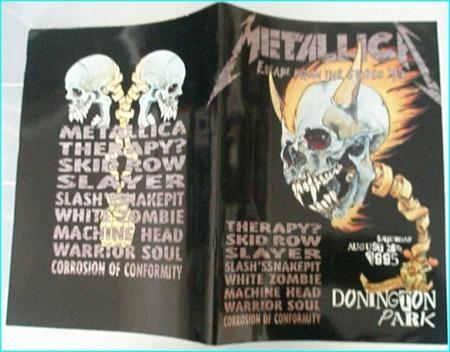 Monsters Of Rock Festival programme 1995 Metallica, Therapy, Skid Row, Slayer, Slash, White Zombie, Machine Head, Warrior Soul