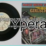 """GIRLSCHOOL: Race With The Devil 7"""" Check video. SIGNED Autogrphed."""