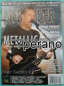 TERRORIZER 129 Mar 2005, Metallica (inside some kind of Monster) Black Metal Special part 2, Judas Priest. MINT CONDITION