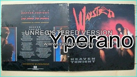 "WAYSTED: Heaven Tonight 7"" + Fire under The Wheels (unreleased elsewhere). Limited gatefold single Check video"