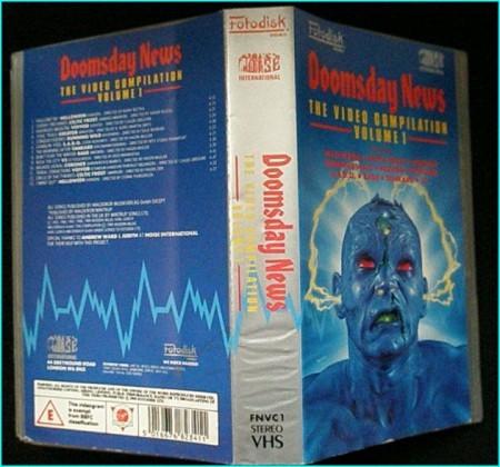 Doomsday News The Noise Records compilation volume 1. Helloween, Coroner, Celtic Frost, Running Wild, SADO, V2, VoiVod.. VHS!