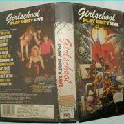 Girlschool play dirty LIVE VHS tape