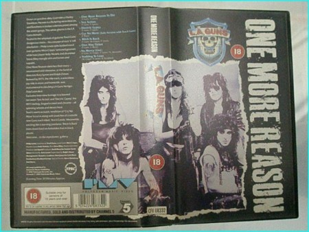 L.A. Guns: one more reason VHS. Rare, out of print with exclusive footage, not available anywhere else!