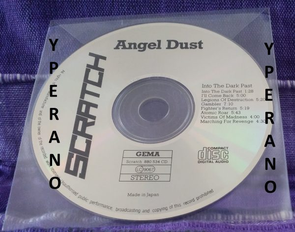 ANGEL DUST Into the dark past CD Japanese 1986