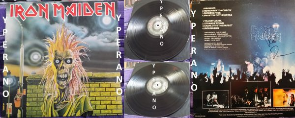 IRON MAIDEN LP Paul Di'Anno SIGNED autographed (1)