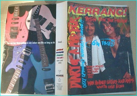 KERRANG 197 OZZY, IRON MAIDEN, FREHLEY'S COMET, RIOT, Vinnie Moore, Dirty Strangers, Last of The Teenage Idols, Celtic Frost