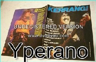 KERRANG 34, Jan 27 – February 9 1983 Thin Lizzy, Asia, Status Quo, Ted Nugent, Mamas Boys, Bob Seger, Hughes + Thrall, Bitch, Def Leppard, Reo Speedwagon, B.O.C