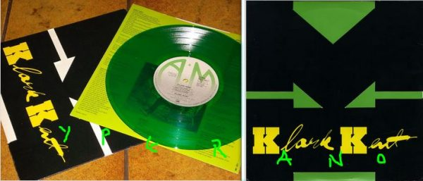 KLARK KENT Klark Kent 10 Green vinyl original die-cut cover UK. Stewart Copeland of the POLICE under pseudonym