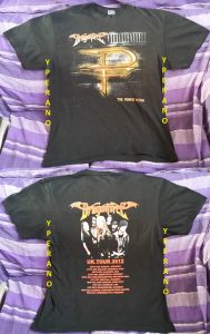 DragonForce T-shirt with Tour Dates (front + back prints), L size.
