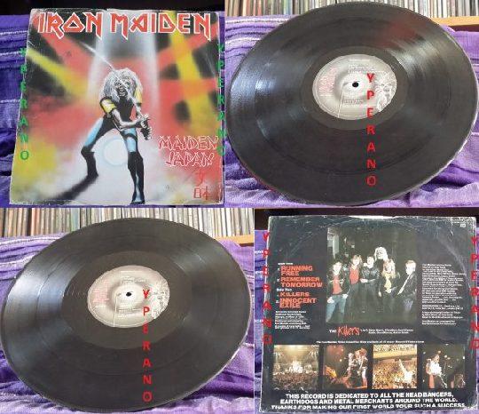 """IRON MAIDEN: Maiden Japan E.P 12"""" UK EMI 5219 Check audio"""