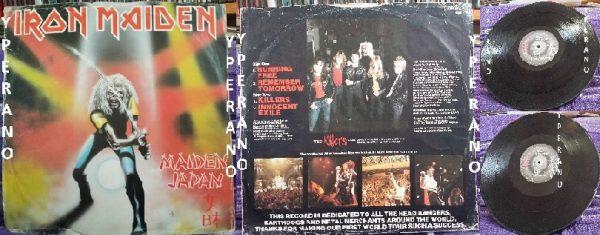 IRON MAIDEN Maiden Japan E.P 12 UK EMI 5219 Paul Di'Anno SIGNED autographed (1)