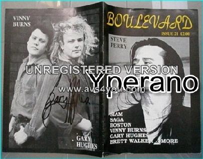 Boulevard Melodic Rock Magazine 21 SIGNED, Steve Perry, Siam, Saga, Vinny Burns, Gary Hughes, Brett Walker